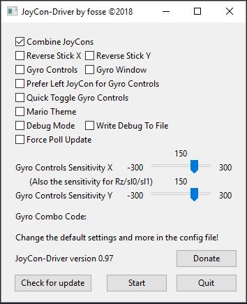 JoyCon-Driver v0.98