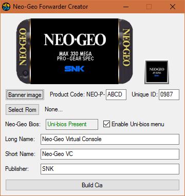 Neo-Geo Forwarder Creator