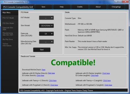 PS3 Console Compatibility GUI