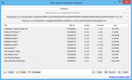 Vita Game Update Checker