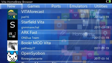 Vita Homebrew Browser