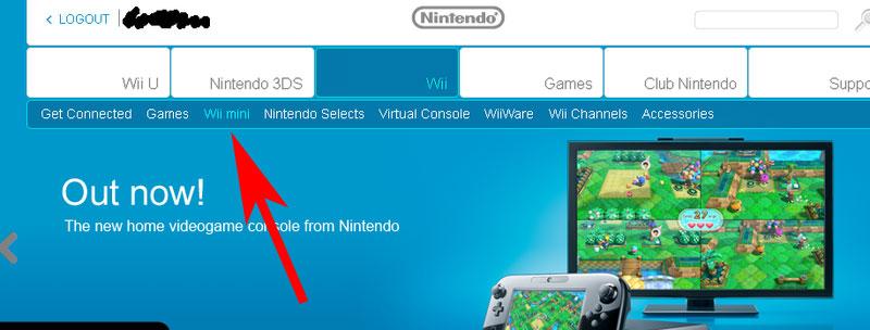 Wii mini at UK