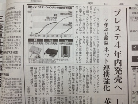Asahi Shinbun PS4