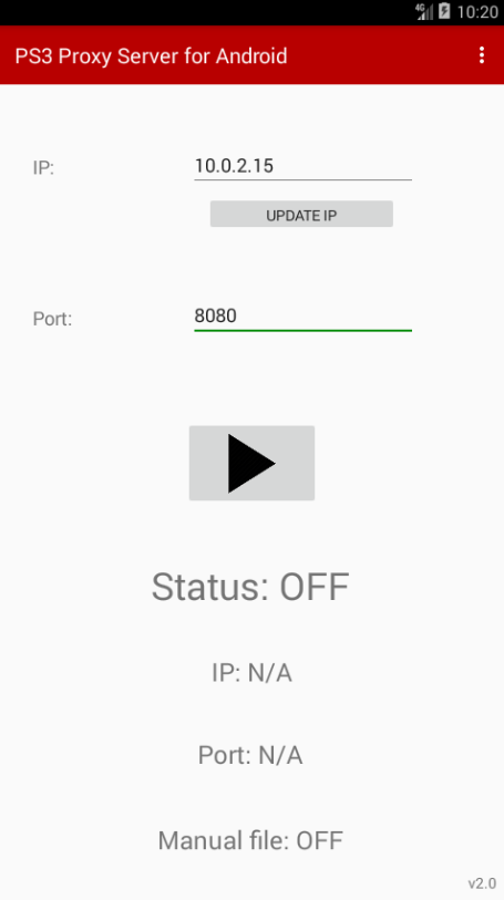 PS3 Proxy Server for Android​