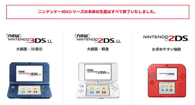 3ds discontinued