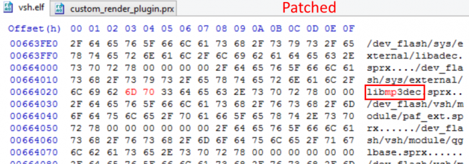 Coldboot MP3 hack patched