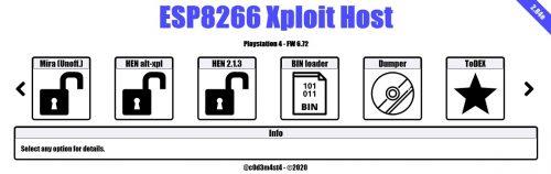 ESP8266XploitHost 2.84e