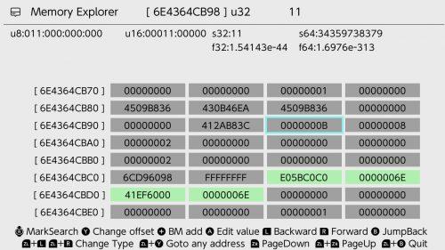 EdiZon-SE Memory Explorer1