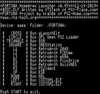 FORTUNA Homebrew Launcher