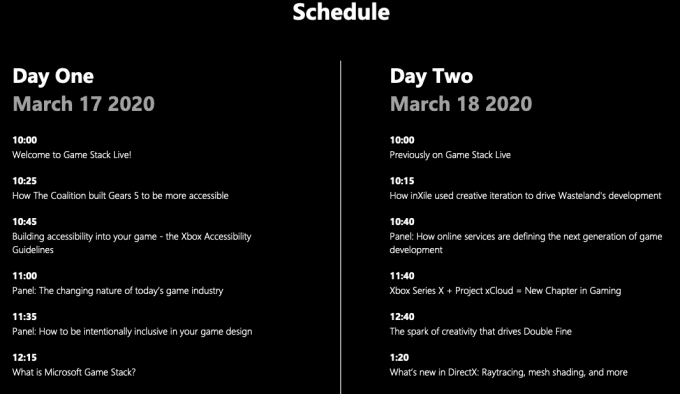 Game Stack Live Schedule