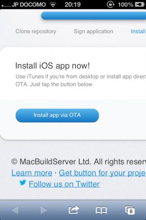 Install App via OTA