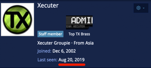 Last seen Aug 20 2019