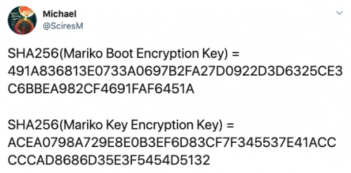 Mariko Boot(Key) Encryption Key