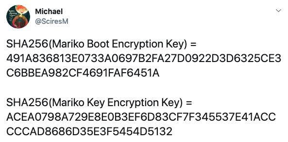 Mariko Boot(Key) Encryption Key