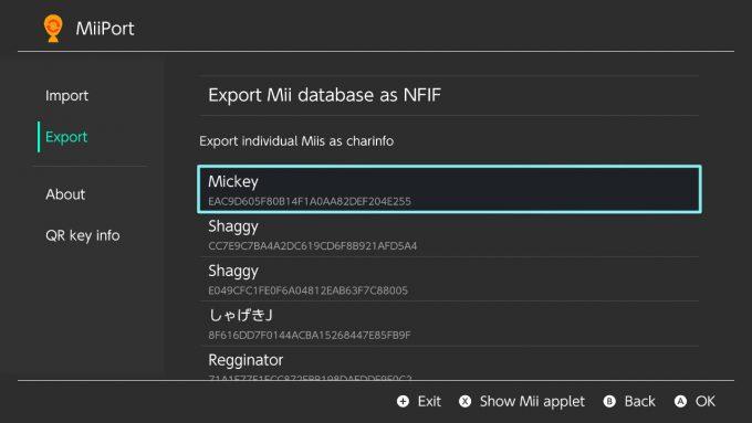 MiiPort_export