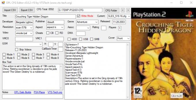 OPL CFG Editor 0.0.2-r10