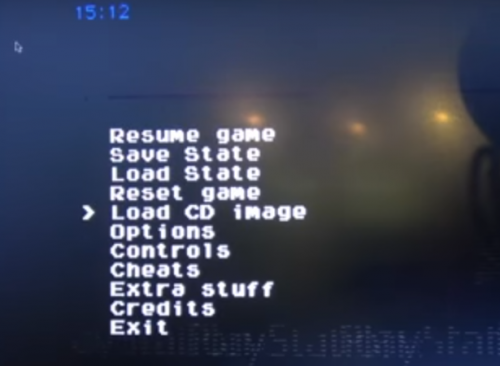 PCSX-ReARMed menu