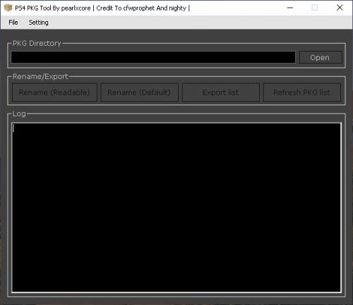 PKG Tool GUI