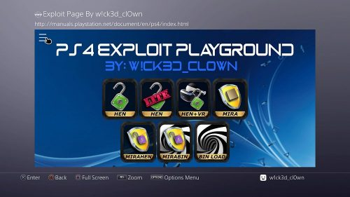 PS4 AIO Offline 5.05 Exploit Playground