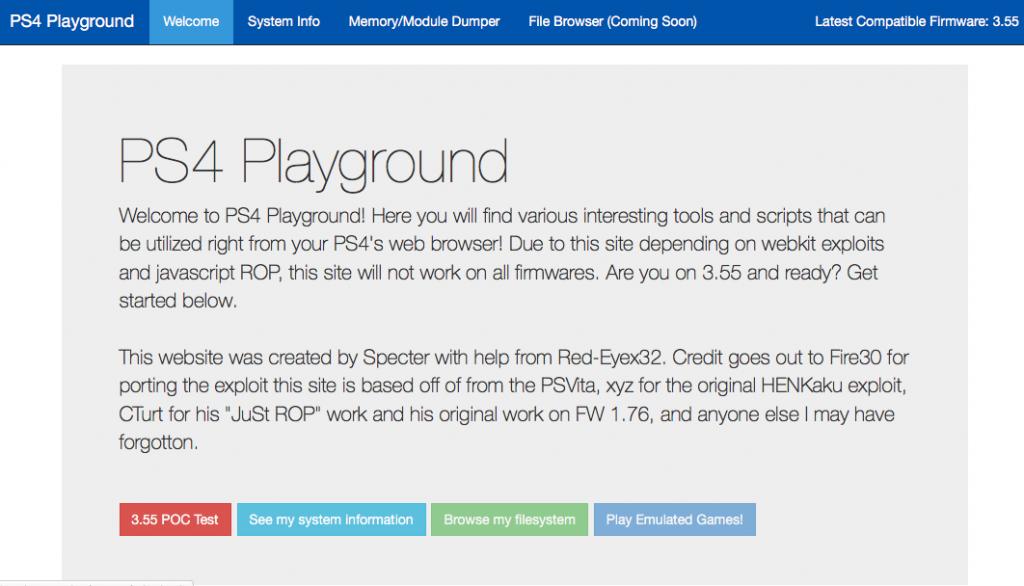 PS4 Playground