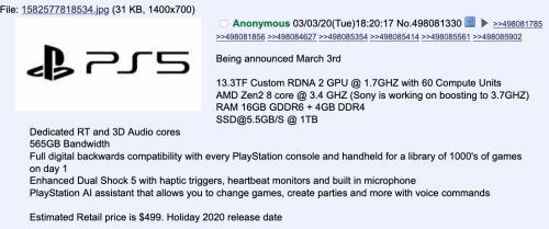 PS5 new leak
