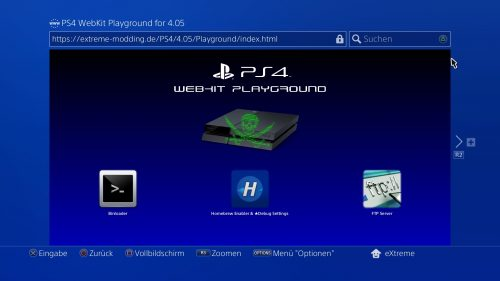 Simple PS4 WebKit Playground for 4.05