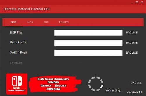Ultimate Material Hactool GUI