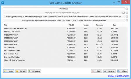 Vita Game Update Checker