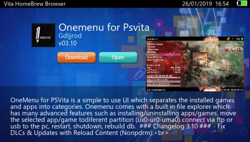 Vita HomeBrew Browser MOD