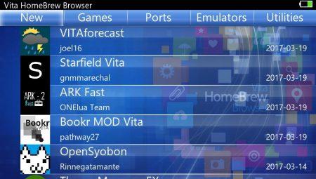 Vita Homebrew Browser