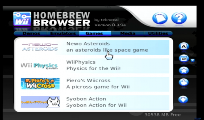 Wii Homebrew Browser