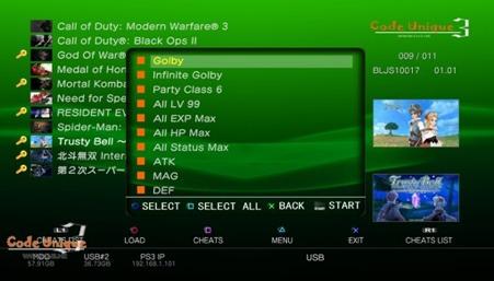 Screen shot of CU3