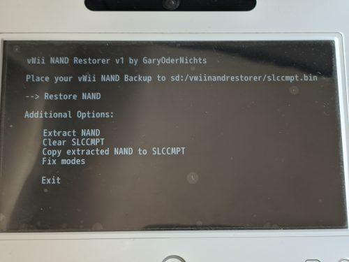 vWii NAND Restorer